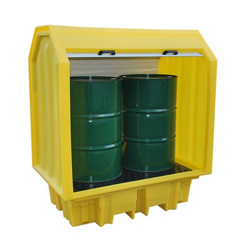 Ecospill 2 Drum All Weather Spill Pallet - Oilfast